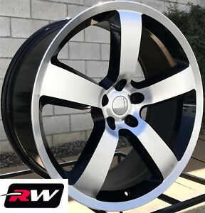 22 Inch 22 X9 Wheels For Chrysler 300 Machined Black Dodge Charger Srt8 Rims