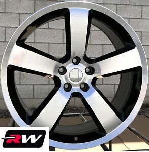 22 Inch Dodge Challenger Oem Replica Wheels Machined Black Charger Srt8 Rims