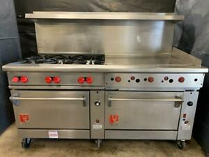 Wolf C72sc 1ak 72 Manual Range W 6 Burners 36 Griddle 1 Convection Oven