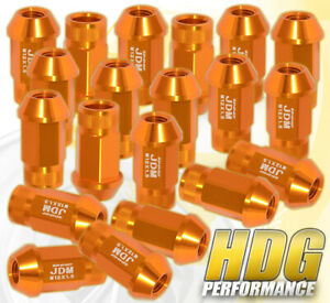 For 20Pc 12X1.5 Aluminum Racing Lug Nuts Screw Wheel Rim Jdm Anodized Gold