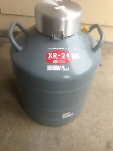 Linde Xr 24 Union Carbide Ln2 Liquid Nitrogen Tank Dewar