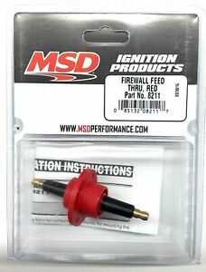 Msd 8211 Msd Ignition Red Firewall Feed Thru Ignition Coil Feed Through