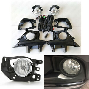 Front Fog Light Kit Fit 2014 2016 Toyota Highlander Clear Lens Bezel Switch Wire
