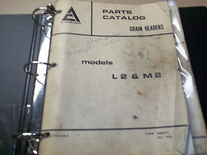 Allis chalmers Grain Headers Parts Catalogs Many Models 3 Ring Binder