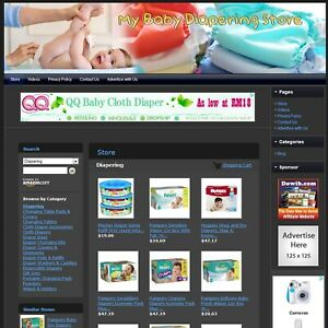 Baby Diapering Store Affiliate Business Website For Sale free Domain hosting