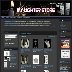 Lighter Store Premium Affiliate Website For Sale Free Domain Name