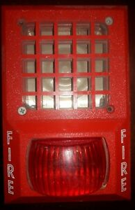 Fire Alarm Box Space Age Brand With Red Strobe Light 1977