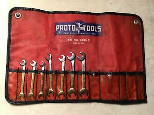 Vintage Proto Ignition Wrench Set No 3200 C And Red Case