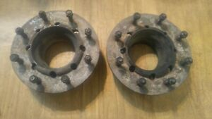 1999 2004 Ford F 450 F 550 8x225 Dually Front Axle Wheel Spacer Adapter Plates