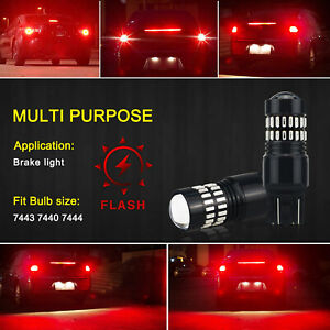 2pcs 7443 7440 Led Brake Tail Stop Turn Signal Light Bulb Flash Strobe Blinking