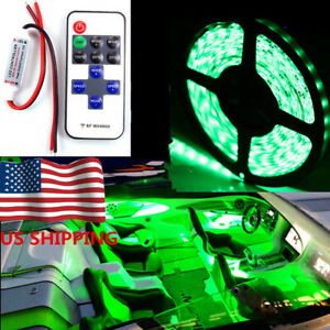 Green Car Body Glow Bar Kit Neon Led Lighting Under Car Underbody Strip For Ford