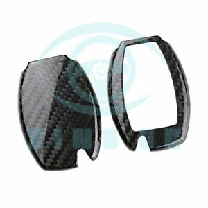 Carbon Fiber Key Case Holder Shell Cap Side Cover Frame For Mercede Benz Xza996