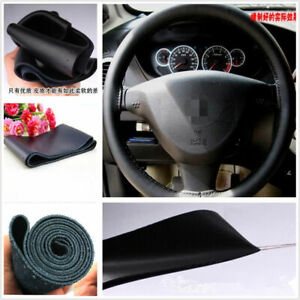 Car Steering Wheel Cover Pu Leather 15 38cm Black Car Parts Accessories