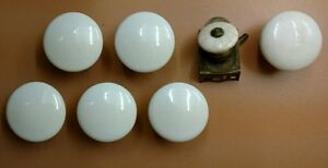 Antique Mixed Lot Of 7 Porcelain Drawer Cabinet Pulls