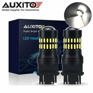 2x Auxito 3157 3156 4114 6000k Back Up Reverse Led Tail Brake Light Bulb White