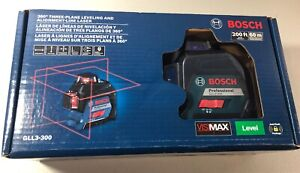 Bosch Gll3 300 Self Alignment Cross Line Laser Level New Free Shipping