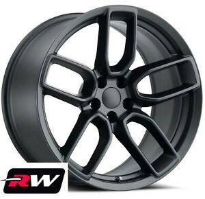 20x9 5 20x10 5 Wheels For Dodge Charger Satin Black Rims Srt Widebody Style