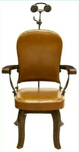 Antique W D Allison Early American Dental Examination Chair Dentist Doctor Exam