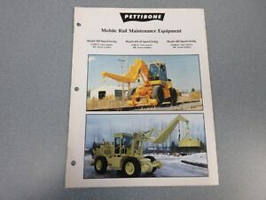 Rare Pettibone Mobile Rail Maintenance Equipment Sales Brochure