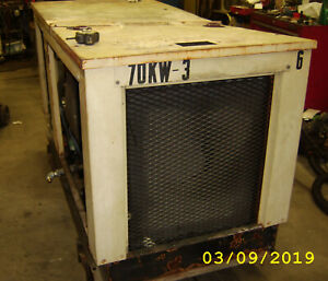 Used Generac 70 Kw Natural Gas Generator W Transfer Switch 120 240 3 Phase