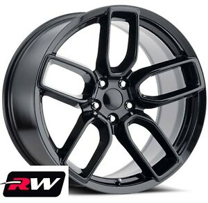 20 Dodge Charger Oe Factory Replica Wheels 2641 Gloss Black Staggered Rims