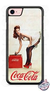 Coca Cola Vintage Pin Up Girl Phone Case for iPhone X 8 PLUS Samsung Google etc.
