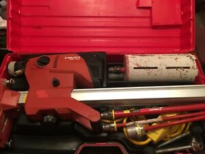 Hilti Dd120 Diamond Drilling System Wet Core Drill Stand Case Bits Included