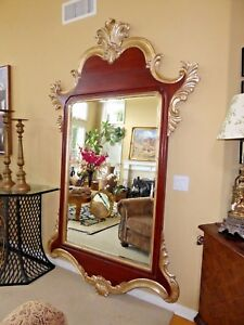 Harrison Gil Christopher Guy Carved Wood Gold Gilt 95 Luxury Wall Mirror