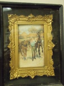 American Antique Gold Gilt Baroque Gesso Frame Within Black Shadow Box 2