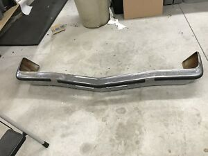 1974 74 Ford Maverick Front Chrome Bumper And Bumperettes Nice
