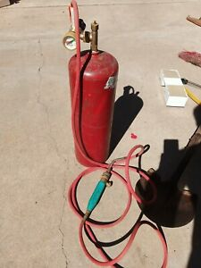 Gentec Turbo Torch Type Air Acetylene Torch Outfit And Tank