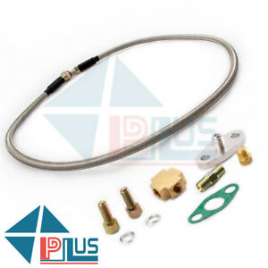 Universal T3 T4 T04e T70 T60 Brand New Turbo Charger Oil Feed Inlet Line Kit