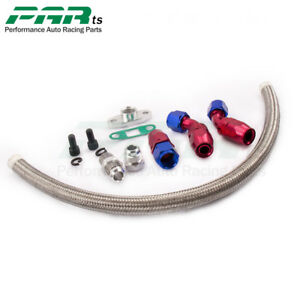 Oil Drain Return Line Universal Kit 10an Fitting adapter Turbo T3 t4 Gt45 T04