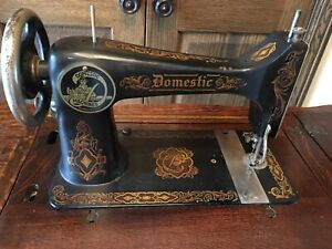 Antique Domestic Sewing Machine Treadle Table Cabinet