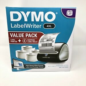 New Dymo Labelwriter 4xl Label Printer 4 Rolls Of 4 x6 Labels Value Pack