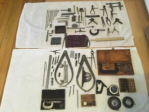 Machinist Tools Lot Brown sharpe Starrett Micrometer Indicator Etc