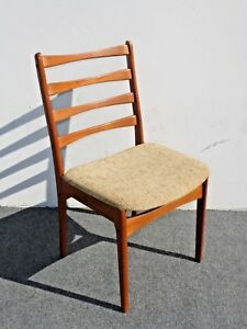 Vintage Mid Century Danish Modern Style Beige Side Chair