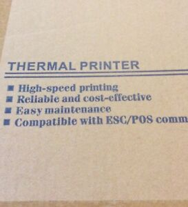 Thermal Receipt Printer Model Pos 5890g 58mm power Adapter usb Cable