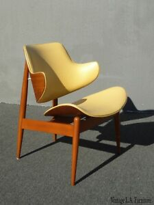 Vintage Mid Century Kodawood Gold Chair By Seymour James Weiner Milo Baughman