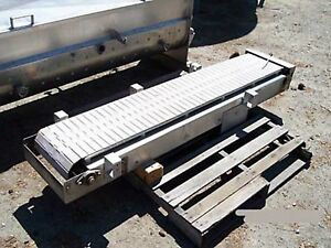 Conveyor 12 In Wide By 5ft 6 In Long S s Plastic Chain