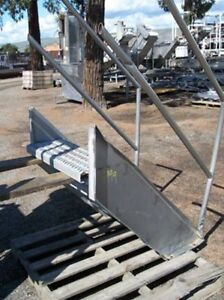 Stainless Steel Handrail And Sides Top Step 30 Hi 12 By 30 Steps