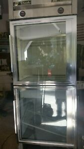 True T 23dt g 27 One Section Commercial Refrigerator Freezer Glass Doors