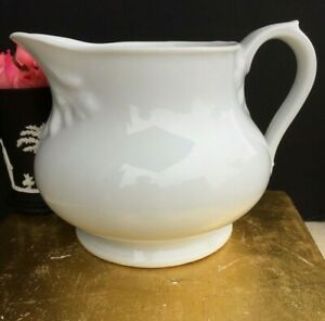 Antique French White Porcelain Small Pitcher