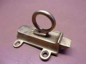 Vintage 2 1 2 Brass Cabinet Cupboard Door Latch No Catch Good Spring Action