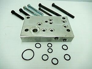 Ford 3930 4630 Tractor Hydraulic Valve Adapter Plate Kit With O rings