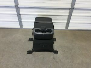 2007 2014 Chevrolet Tahoe Yukon Suburban Silverado Black Cloth Center Jump Seat