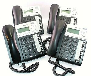 Lot Of 4 At t Sb35020 Corded Deskset Phone For Sb35010 Analog Gateway System