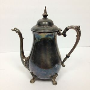 Coffee Tea Pot Vintage Sheridan Silver Plated Teapot Silver Plated Unpolished