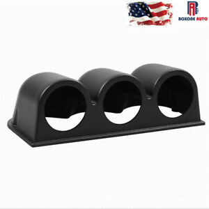 Universal Black 3 Triple Dash Gauge Meter Pod Car Auto Mount Holder 2inch 52mm