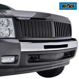 Eag Replacement Grille Upper Full Grill For 07 13 Chevy Silverado 1500 Black
